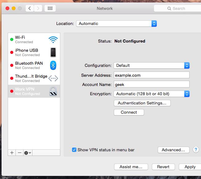 cara mematikan vpn di mac