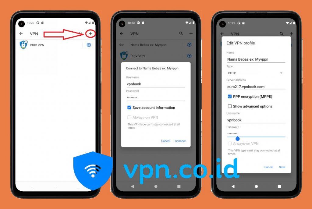 cara setting vpn android